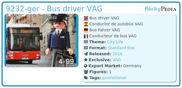 Playmobil 9232-ger - Bus driver