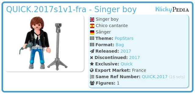 Playmobil QUICK.2017s1v1-fra - Singer boy