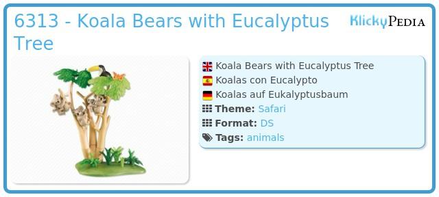 Playmobil 6313 - Koala Bears with Eucalyptus Tree
