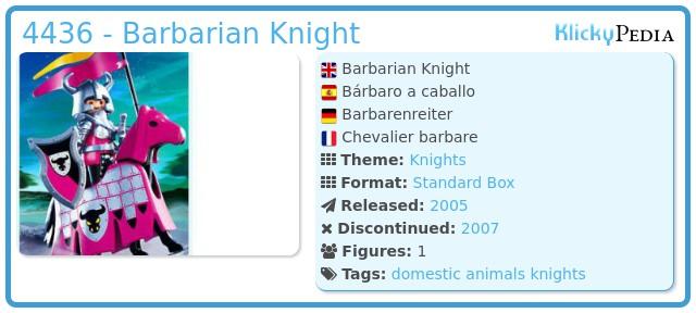 Playmobil 4436 - Barbarian Knight