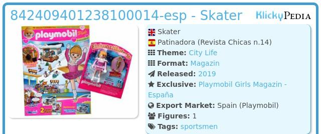 Playmobil 842409401238100014-esp - Skater