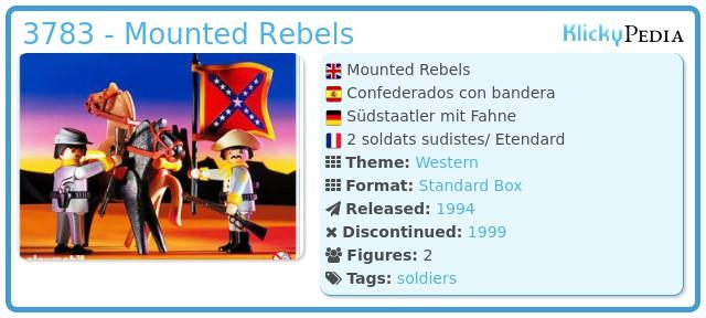 Playmobil 3783 - Mounted Rebels