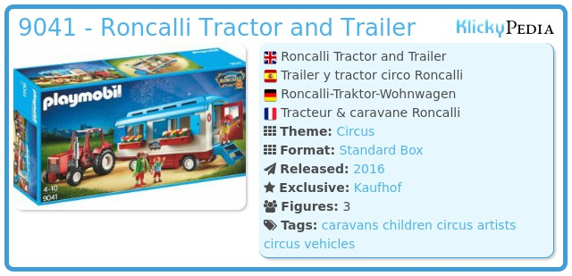 Playmobil 9041 - Roncalli Tractor and Trailer