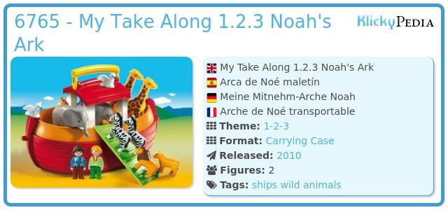 Playmobil 6765 - My Take Along 1.2.3 Noah's Ark