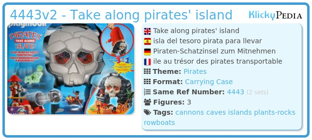 Playmobil 4443v2 - Take along pirates' island