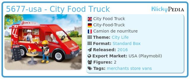 Playmobil 5677-usa - City Food Truck