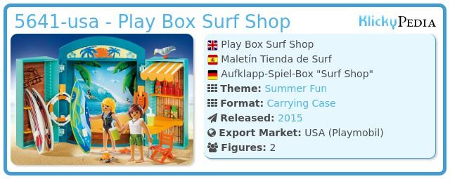 Playmobil 5641-usa - Play Box Surf Shop