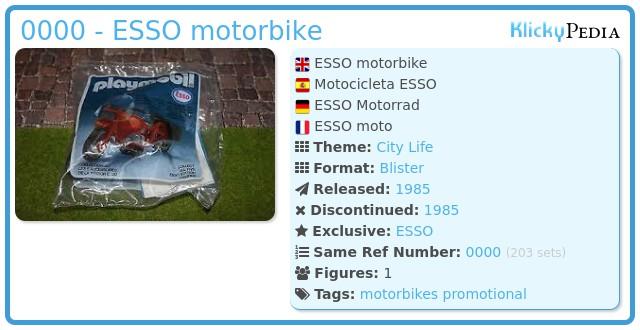 Playmobil 0000 - ESSO motorbike