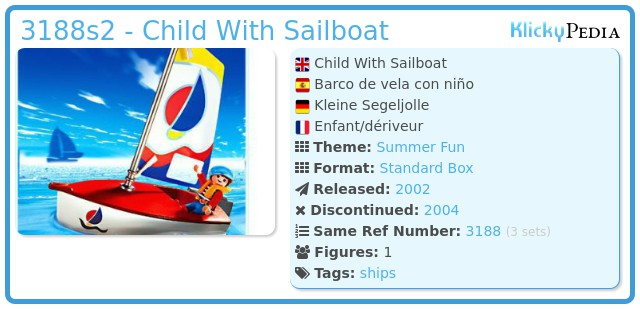 Playmobil 3188s2 - Child With Sailboat