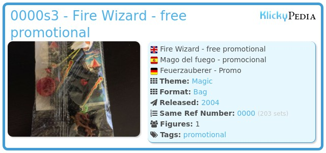 Playmobil 0000 - Fire Wizard - free promotional