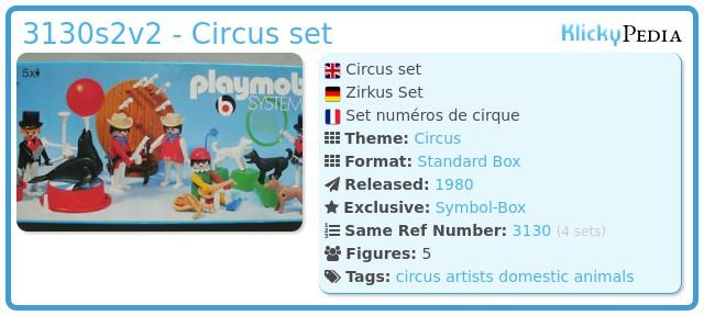 Playmobil 3130s2v2 - Circus set
