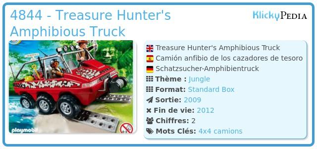 Playmobil 4844 - Treasure Hunter's Amphibious Truck