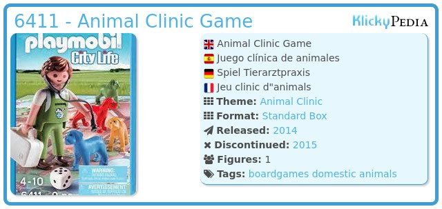 Playmobil 6411 - Animal Clinic Game