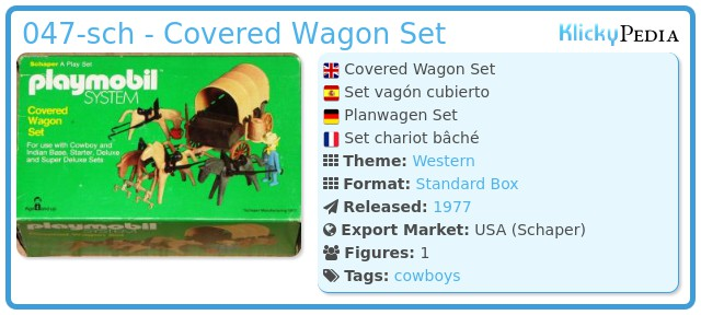 Playmobil 047-sch - Covered Wagon Set