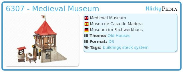 Playmobil 6307 - Medieval Museum