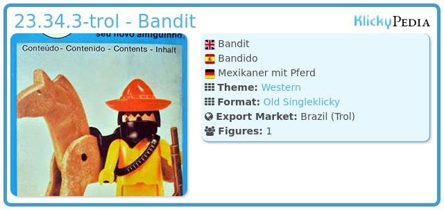 Playmobil 23.34.3-trol - Bandit