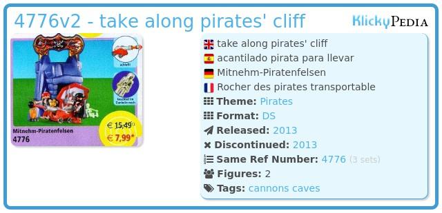 Playmobil 4776v2 - take along pirates' cliff