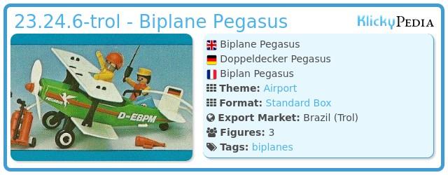 Playmobil 23.24.6-trol - Biplane Pegasus