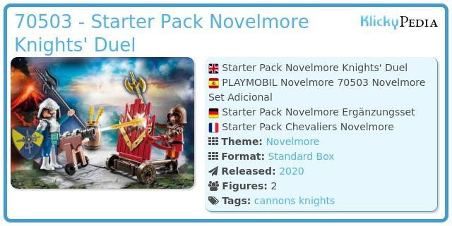 Playmobil 70503 - Starter Pack Novelmore knights