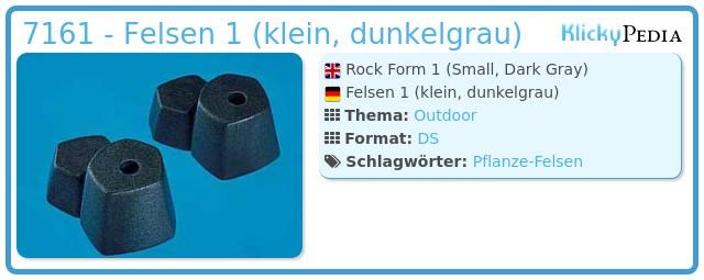 Playmobil 7161 - Rock Form (Small, Dark Gray)