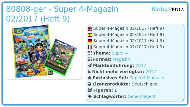 Playmobil 80808-ger - Super 4-Magazin 03/2017 (Heft 10)