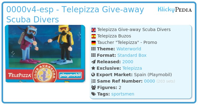 Playmobil 0000v4-esp - Telepizza Give-away Scuba Divers
