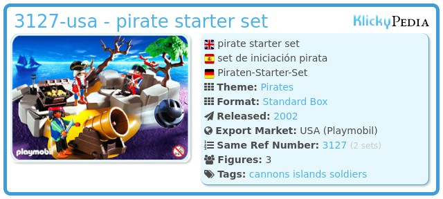 Playmobil 3127-usa - pirate starter set