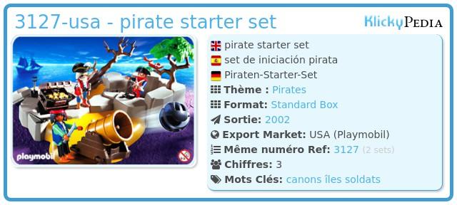 Playmobil 3127-usa - pirate starter set
