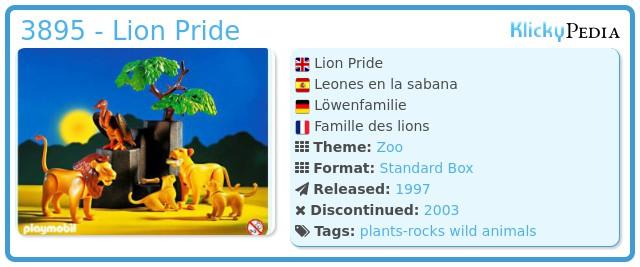 Playmobil 3895 - Lion Pride