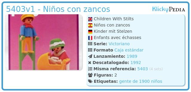 Playmobil 5403v1 - Niños con zancos
