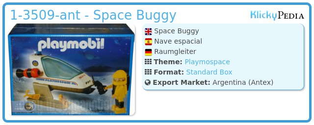 Playmobil 1-3509-ant - Space Buggy