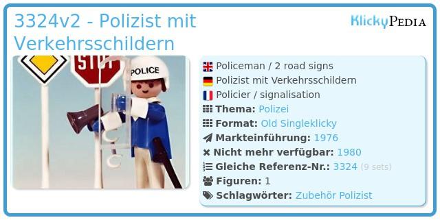 Playmobil 3324v2 - Polizist mit Verkehrsschildern