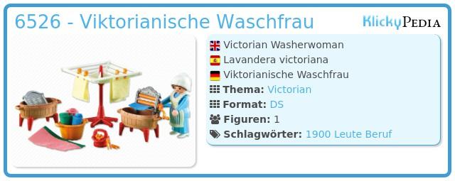 Playmobil 6526 - Viktorianisch Waschfrau