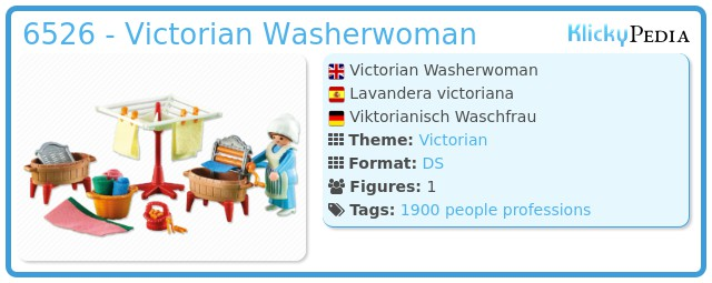 Playmobil 6526 - Victorian Washerwoman