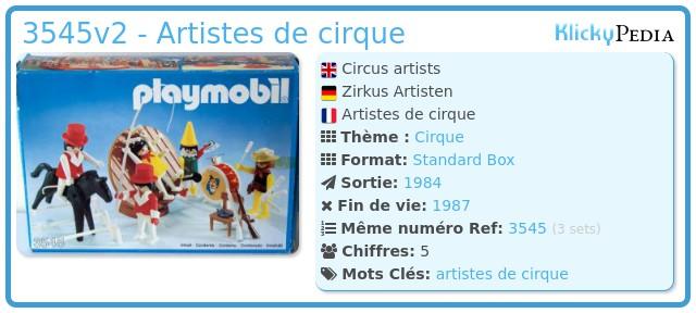 Playmobil 3545v2 - Artistes de cirque