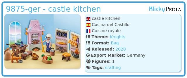 Playmobil 9875-ger - castle kitchen