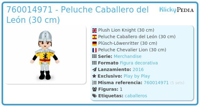Playmobil 00000 - Peluche Caballero (30 cm.)