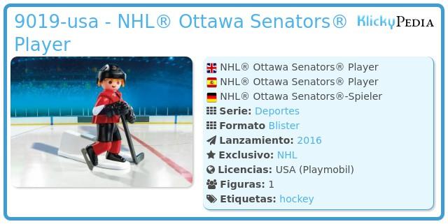 Playmobil 9019-usa - NHL® Ottawa Senators® Player