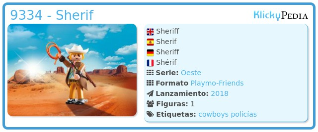 Playmobil 9334 - Sherif