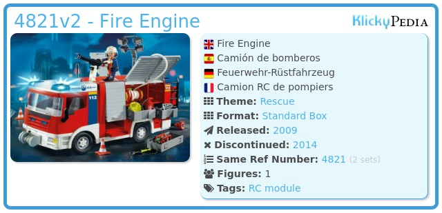 Playmobil 4821v2 - Fire Engine