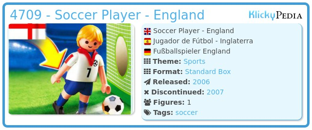 Playmobil 4709 - Soccer Player - England