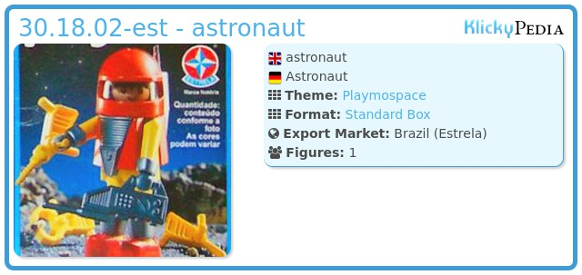 Playmobil 30.18.02-est - astronaut