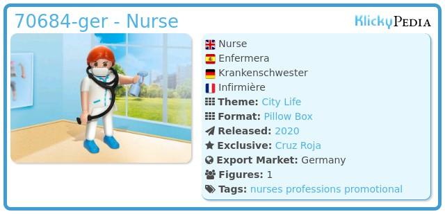 Playmobil 70684-ger - Nurse