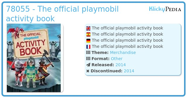 Playmobil 78055 - The official playmobil activity book