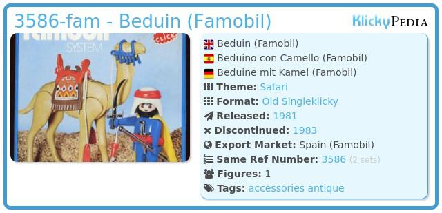 Playmobil 3586-fam - Beduin
