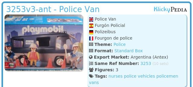 Playmobil 3253v3-ant - Police Van