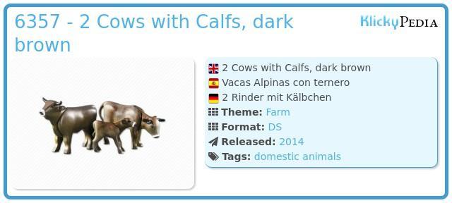 Playmobil 6357 - 2 Cows with Calfs, dark brown