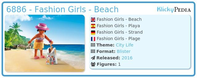 Playmobil 6886 - Fashion Girls - Beach