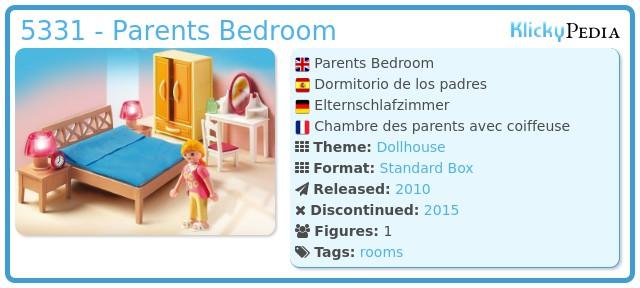 Playmobil 5331 - Parents Bedroom