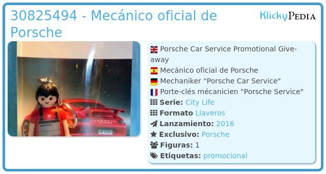 Playmobil 30825494 - Mecánico oficial de Porsche